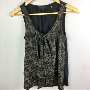 Ted Baker silk front floral print tie tank